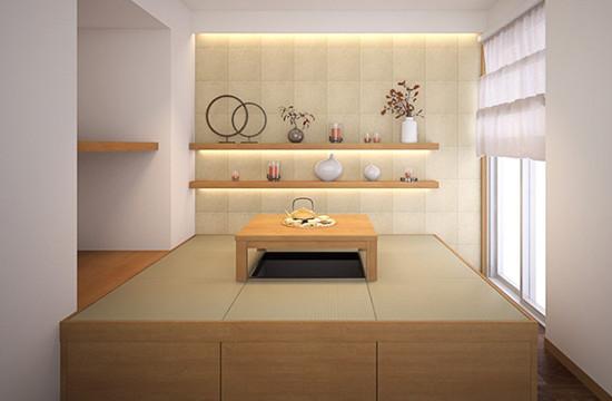 小規模・中規模物件パース 例2 住宅室内・和室