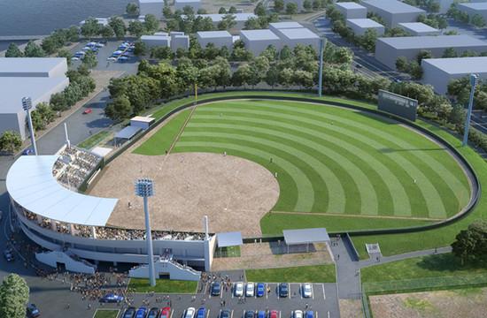 広告物件向けCGパース、建築パース 例2 野球場