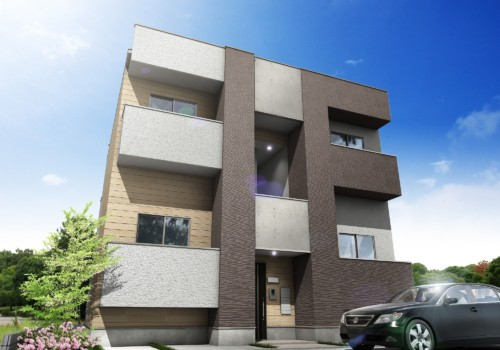 (仮)マンション・アパート建築CGパース制作