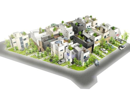 (仮)住宅建築パース